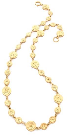 WGACA Vintage Chanel CC & Coins Necklace