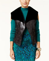 Thalia Sodi Faux-Shearling Vest, Only at Macy's