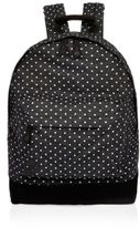 River Island MensBlack spotted denim Mi-Pac backpack