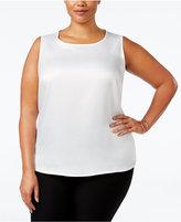 Kasper Plus Size Sleeveless Suiting Top
