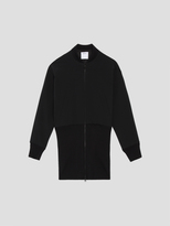 DKNY Oversized Bomber Jacket With Two-Way Zip