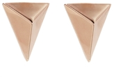 Jennifer Fisher Triangle Stud Earrings - Rose Gold