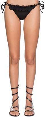 Ermanno Scervino Lycra & Lace Triangle Bikini Bottoms