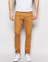 Asos Skinny Jeans In Tan