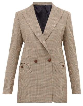 BLAZÉ MILANO Bonhomme Everyday Houndstooth Wool Blazer - Womens - Brown Multi