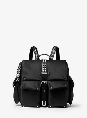 Michael Kors Olivia Medium Studded Satin Backpack
