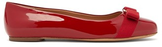 Salvatore Ferragamo Varina Patent-leather Ballet Flats - Womens - Red