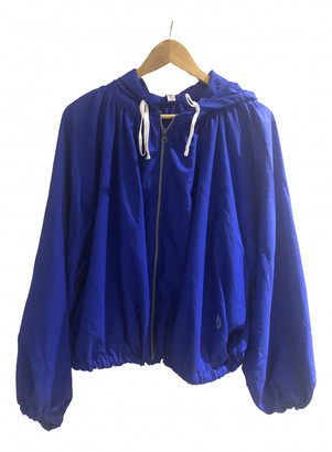 Free People Blue Polyester Jackets