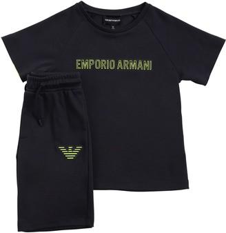 Emporio Armani Cotton Interlock T-Shirt & Shorts
