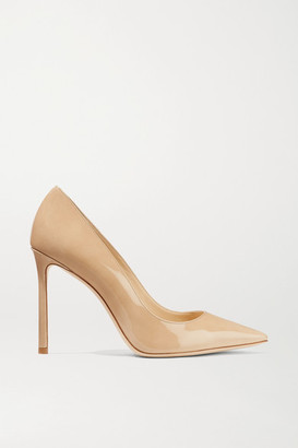 Jimmy Choo Romy 100 Patent-leather Pumps - Sand