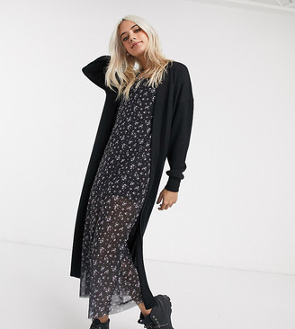 Noisy May Petite maxi cardigan in black