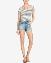 Denim & Supply Ralph Lauren Striped Off-The-Shoulder Top