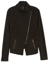 Petite Women's Halogen Knit Moto Jacket