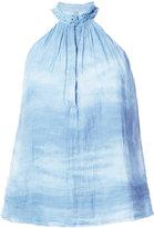 Raquel Allegra tie-dye halterneck top