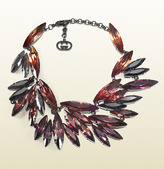 Gucci Necklace With Navette Cut Crystals