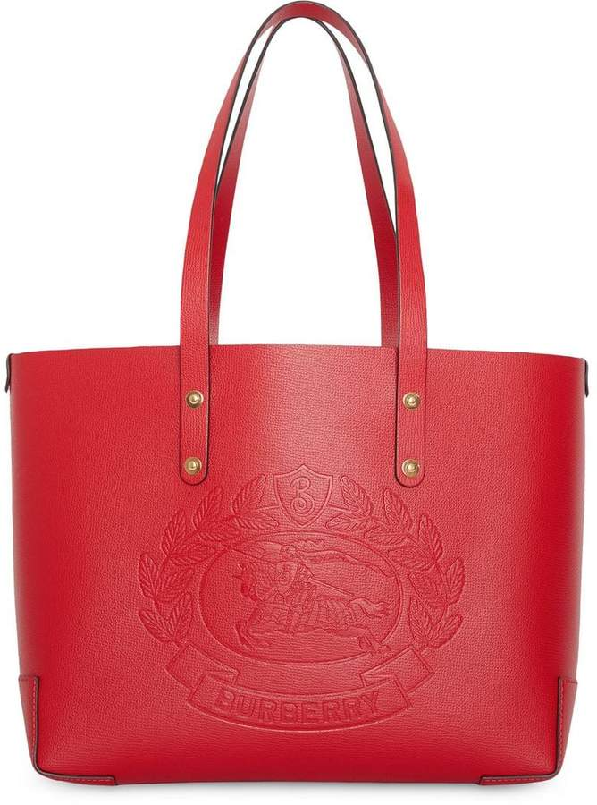 00923da37ccd Burberry Red Leather Tote Bags - ShopStyle