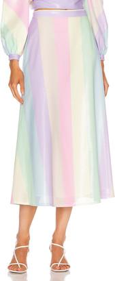 Olivia Rubin Penelope Skirt in Neapolitan Stripe | FWRD