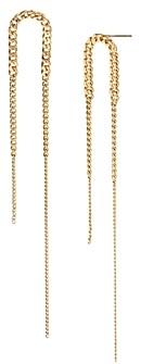 AllSaints Delicate Chain Linear Earrings