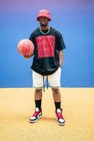 boohoo Mens White Airtex Basketball Shorts With Tape, White
