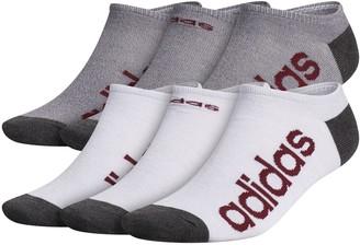 adidas Men's 6-pack Climalite Superlite Linear No-Show Socks