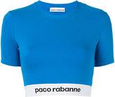 Paco Rabanne cropped T-shirt - women - Polyamide/Spandex/Elastane/Viscose - XS