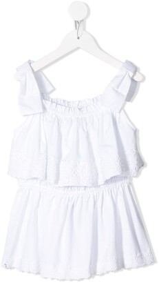 Dolce & Gabbana Kids Sleeveless Ruffle Top
