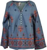 Katherine Barclay Chambray Peasant Top