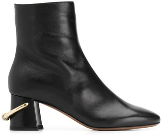 L'Autre Chose Ring Detail Heeled Boots