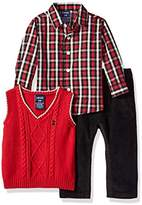 Izod Baby Boys' Three Piece Sweater Vest Set