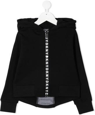 DKNY Logo-Print Zipped Hoodie
