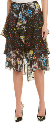 Jason Wu Tiered Chiffon Silk Skirt