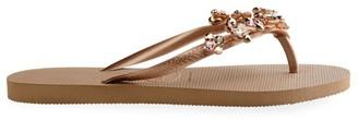 Havaianas Slim Capri III Crystal-Embellished Flip Flops