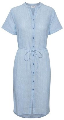 Saint Tropez Afia Striped Cotton Button Down Dress - M