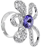 Body Candy Clear Daisy Adjustable Ring