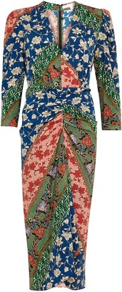 Veronica Beard Mary printed stretch-silk dress