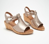 Clarks Leather Wedge Sandals- Un Plaza Way
