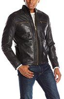 Andrew Marc Men's Laser Leather Moto Jacket