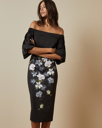 Ted Baker ADALLI Off the shoulder Opal bodycon dress