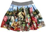 MonnaLisa Snow White Printed Neoprene Skirt
