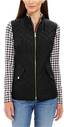 Charter Club Petite Zip-Front Quilted Cotton Vest