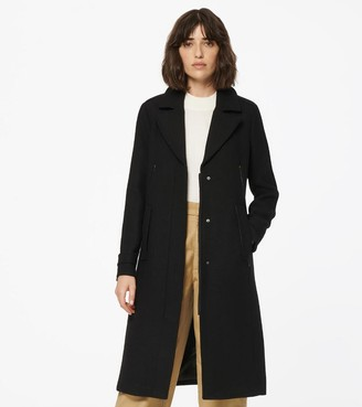 Andrew Marc Havana Single Breasted Wool Coat