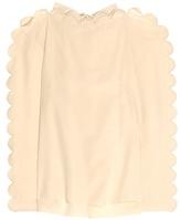 Fendi Silk high neck blouse
