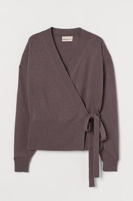 H&M Wrapover Cashmere Cardigan