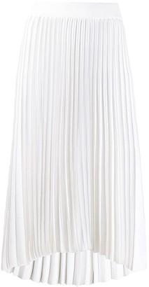 Thom Browne High Low Hemline Pleated Skirt