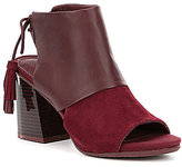 Kenneth Cole Reaction Reach The Stars Lace-Up Suede Block Heel Booties
