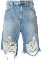 Stampd distressed denim shorts