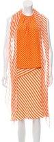 Oscar de la Renta Polka Dot & Striped Skirt Set