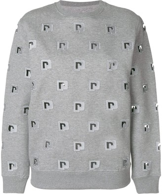 Paco Rabanne logo embroidered sweatshirt