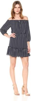 BB Dakota Women's McKenna Off The Shoulder Striped Dress