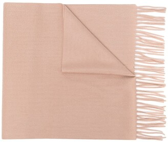 N.Peal Frayed-Edge Cashmere Scarf
